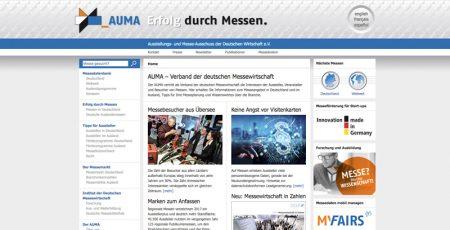 comrhein, Projekt 2018, Webrelaunch, AUMA