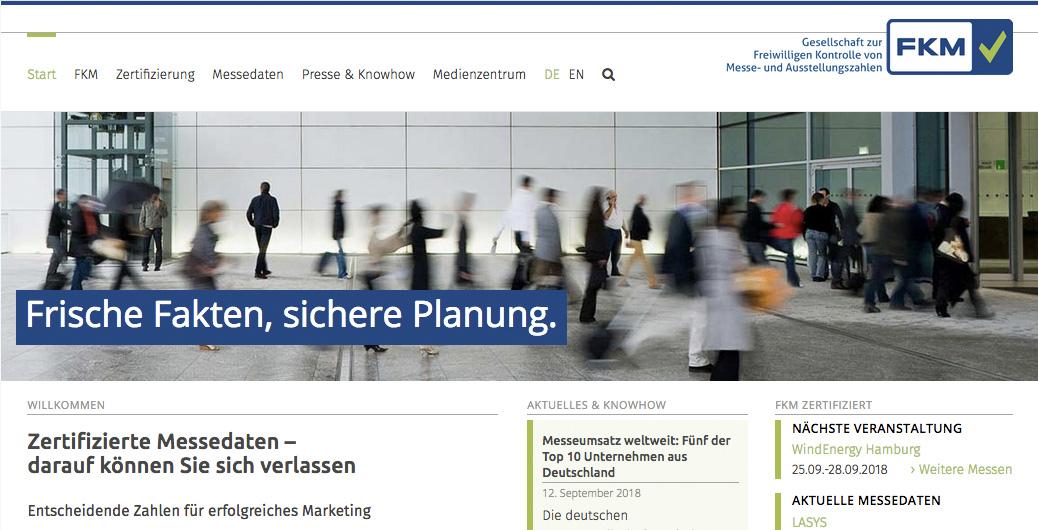 FKM – mehr Service mit neuer Internetseite